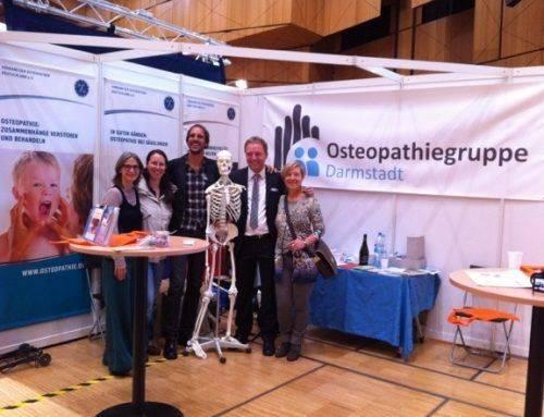 Osteopathiegruppe Darmstadt präsentiert sich auf der Gesundheitsmesse